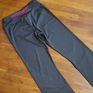 Womens Reebok Performance Active Pants Gray Lg